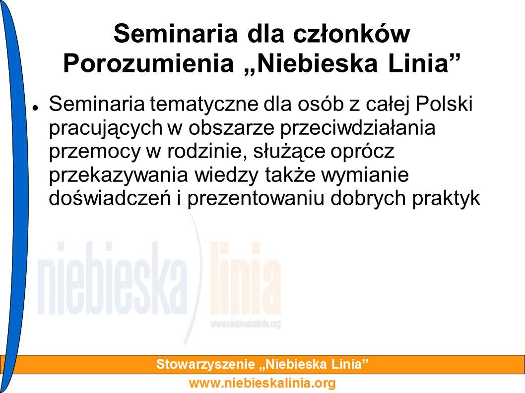 """Seminaria dla członków Porozumienia """"Niebieska Linia"""