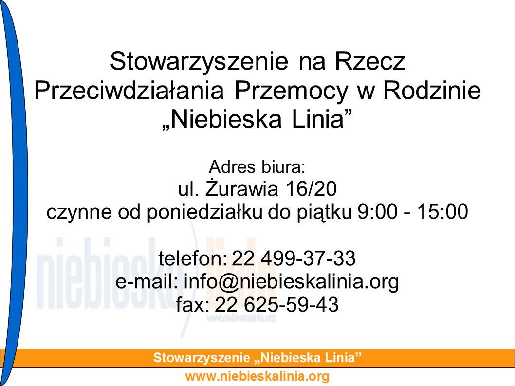 """Stowarzyszenie na Rzecz Przeciwdziałania Przemocy w Rodzinie """"Niebieska Linia"""