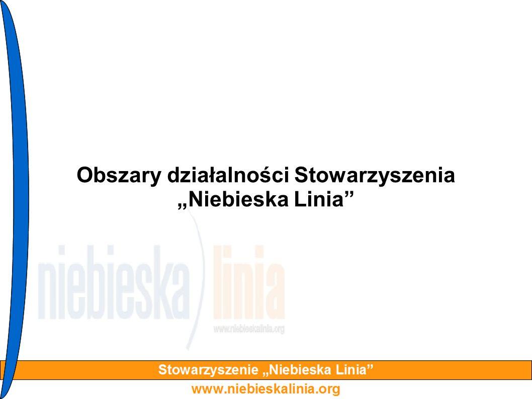 """Obszary działalności Stowarzyszenia """"Niebieska Linia"""