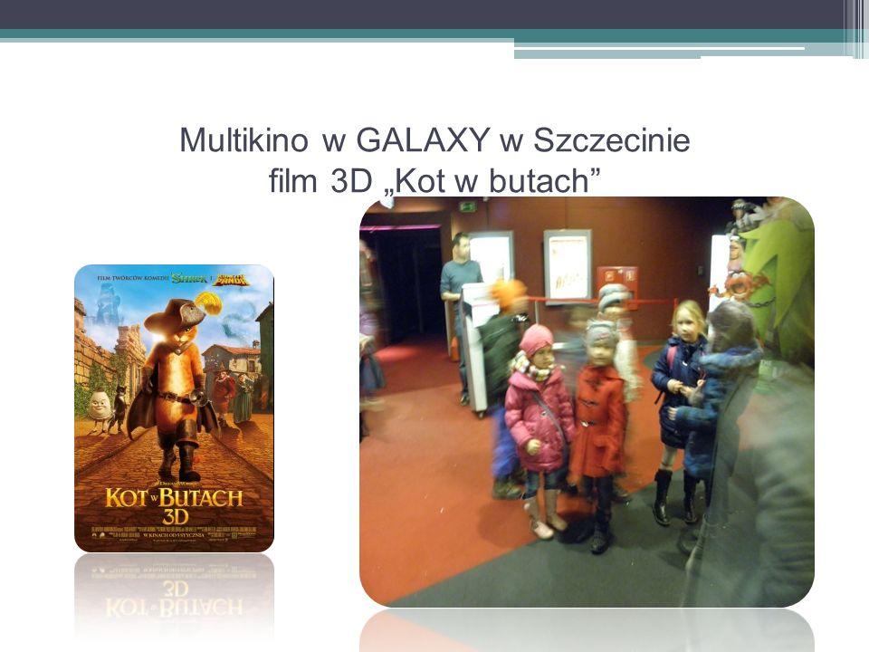 """Multikino w GALAXY w Szczecinie film 3D """"Kot w butach"""