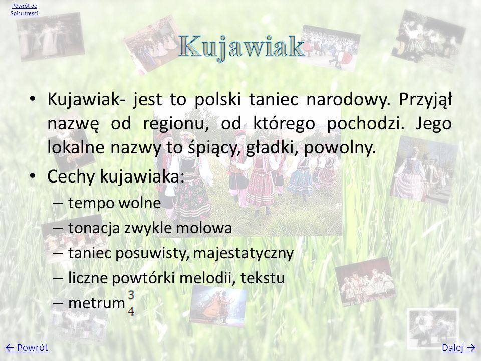 Powrót do Spisu treści Kujawiak.