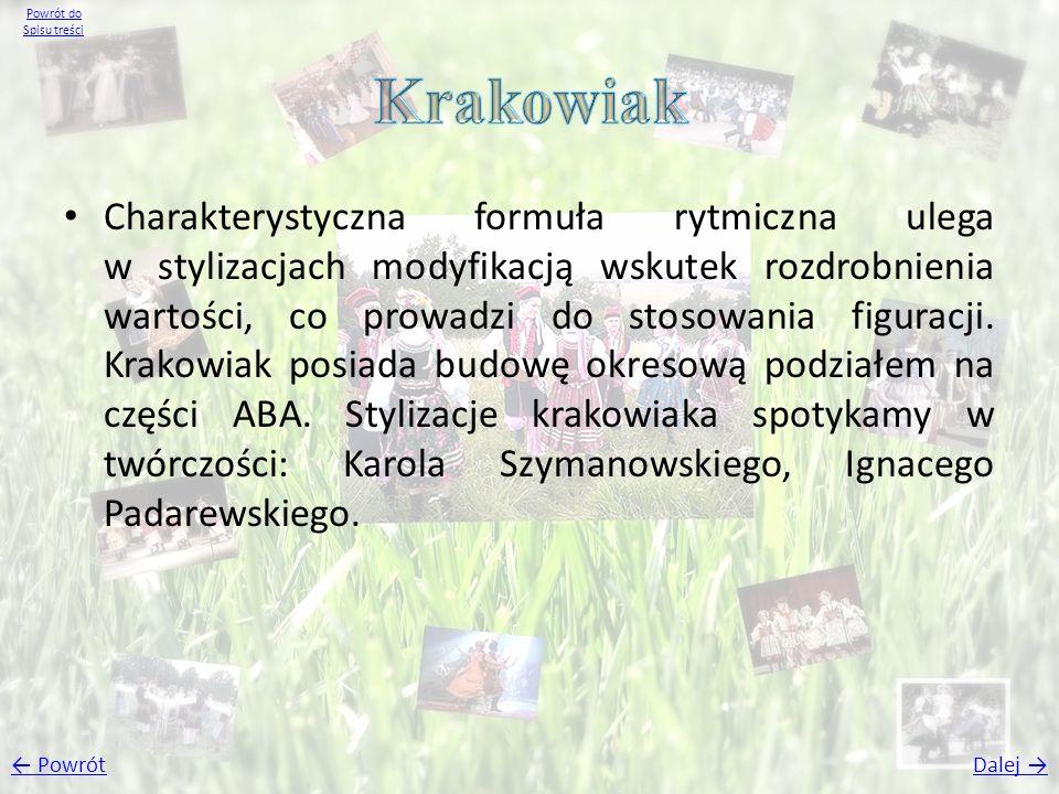 Powrót do Spisu treści Krakowiak.