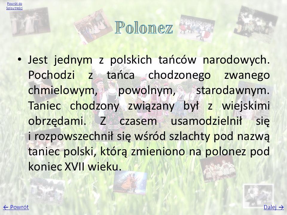 Powrót do Spisu treści Polonez.