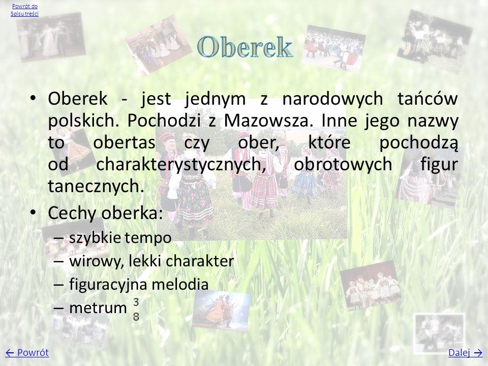 Powrót do Spisu treści Oberek.