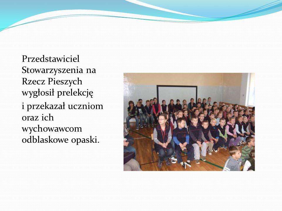 Przedstawiciel Stowarzyszenia na Rzecz Pieszych wygłosił prelekcję