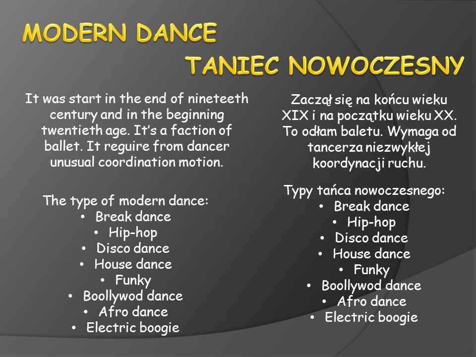 MODERN DANCE TANIEC NOWOCZESNY