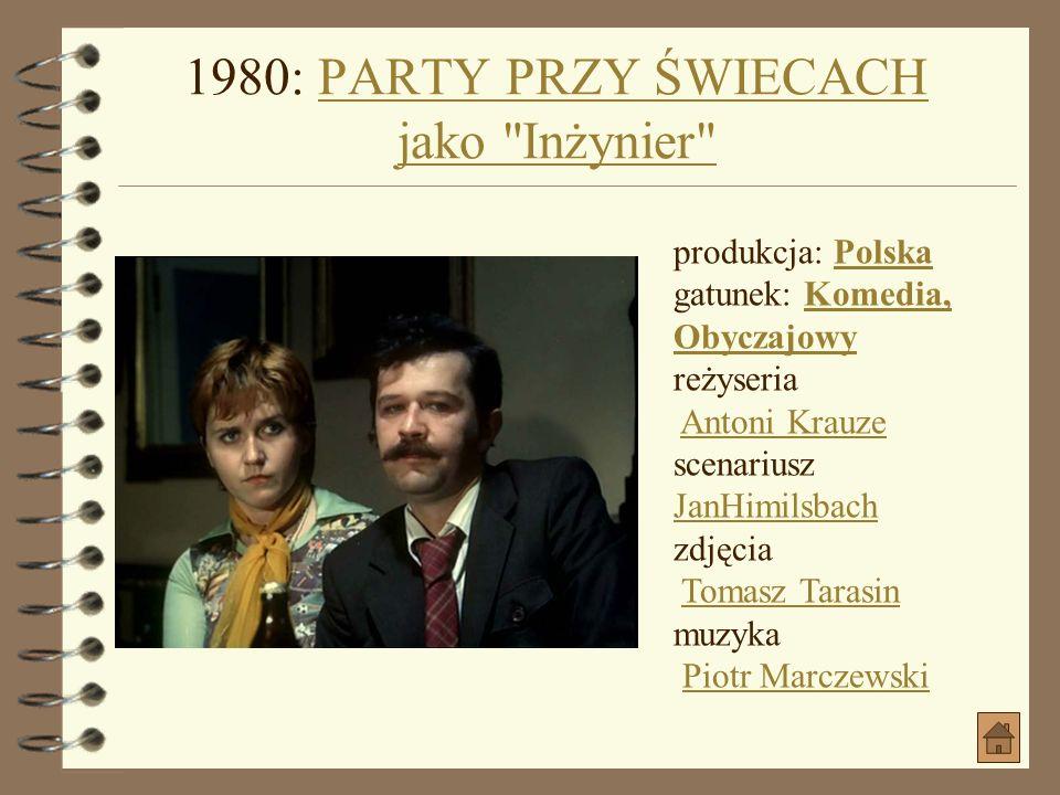 1980: PARTY PRZY ŚWIECACH jako Inżynier
