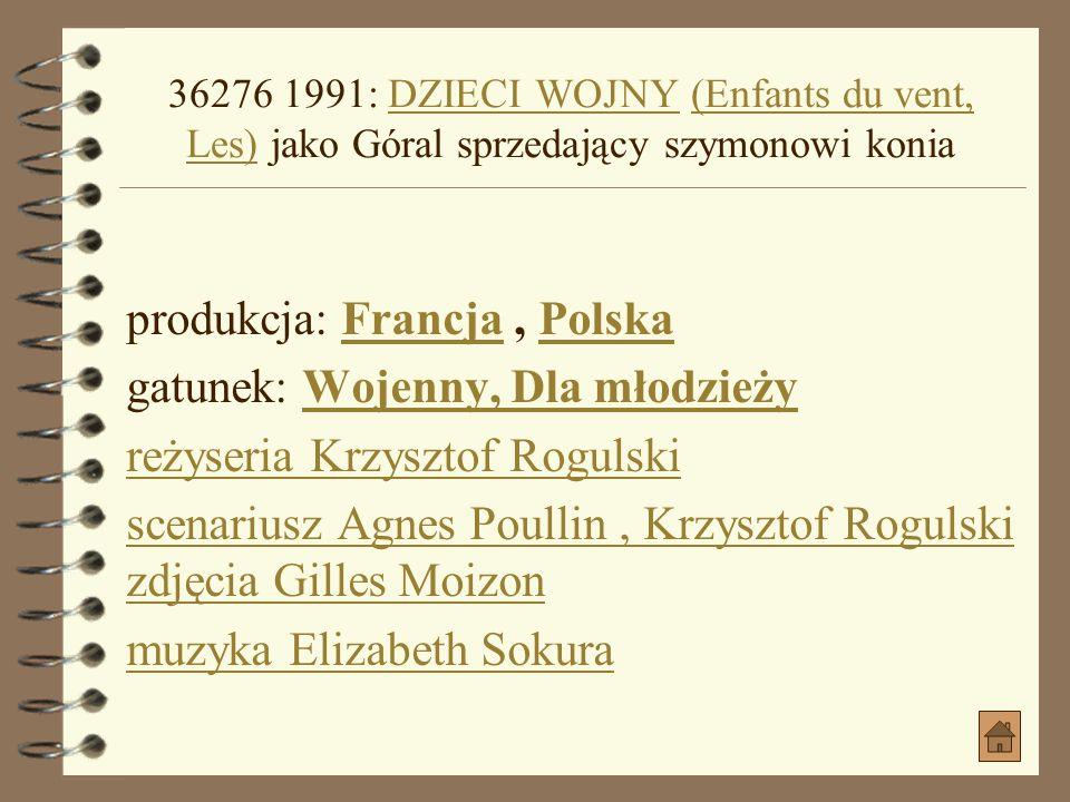 produkcja: Francja , Polska gatunek: Wojenny, Dla młodzieży