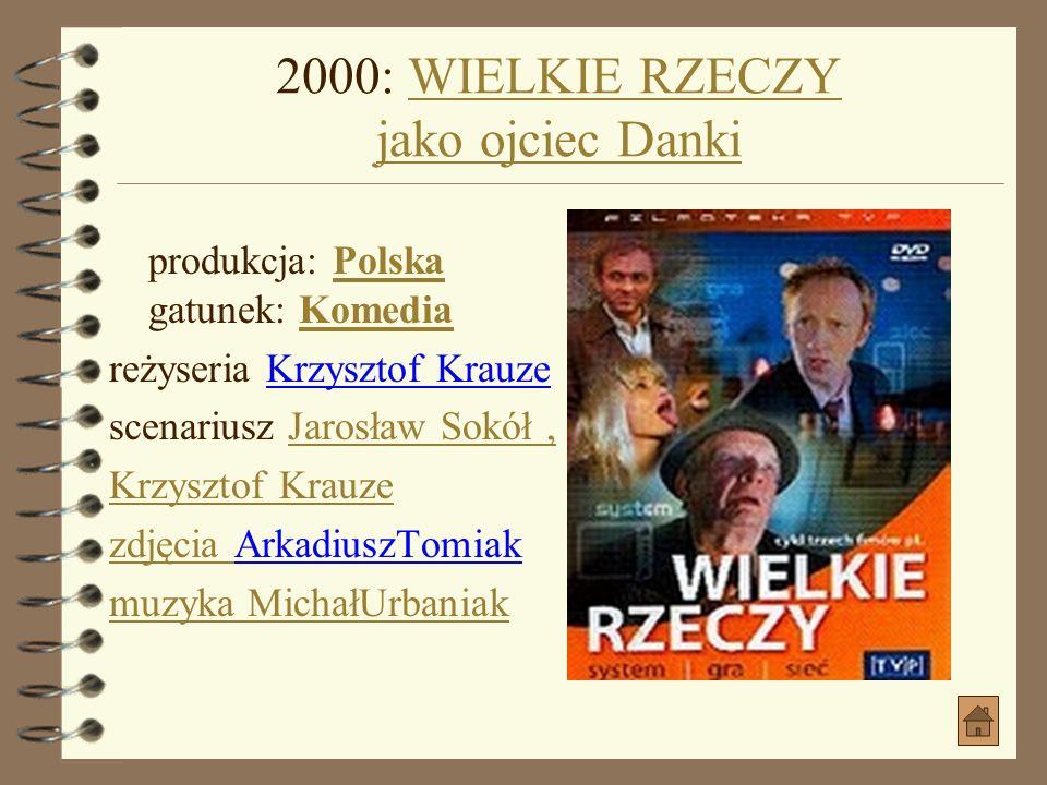 2000: WIELKIE RZECZY jako ojciec Danki