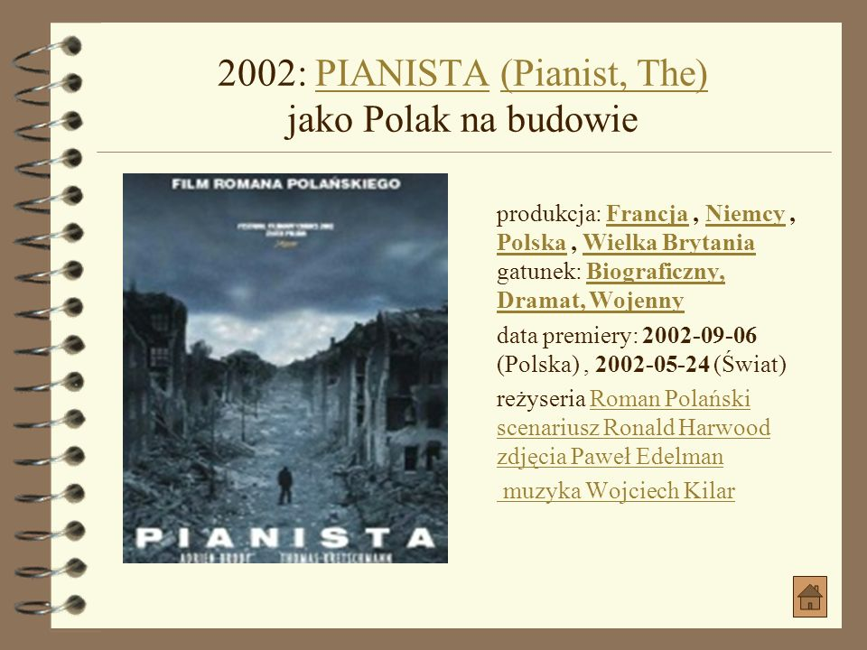 2002: PIANISTA (Pianist, The) jako Polak na budowie