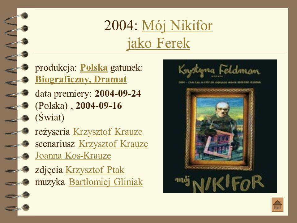 2004: Mój Nikifor jako Ferek