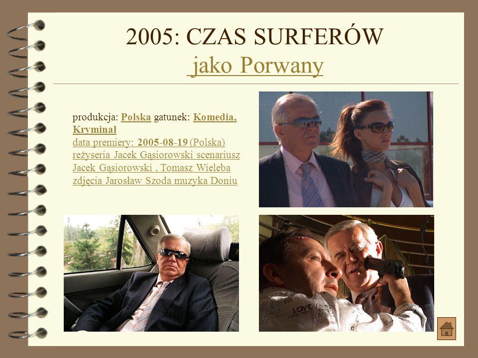 2005: CZAS SURFERÓW jako Porwany