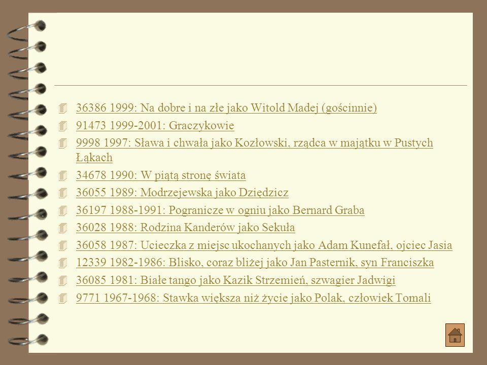 36386 1999: Na dobre i na złe jako Witold Madej (gościnnie)