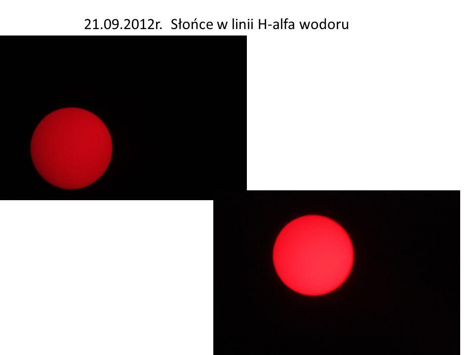 21.09.2012r. Słońce w linii H-alfa wodoru
