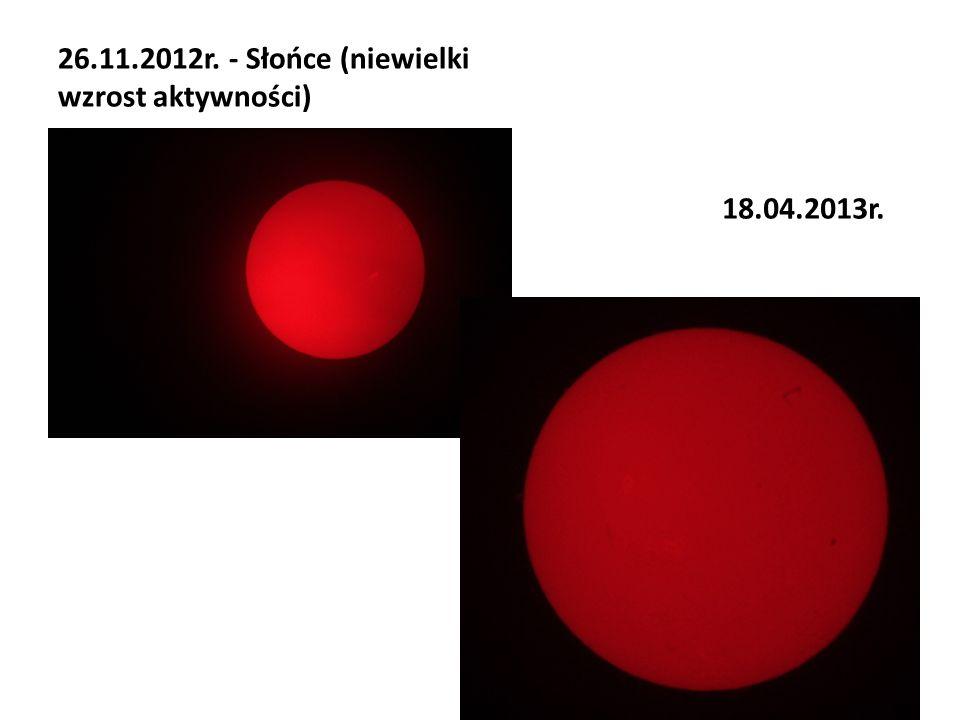 26.11.2012r. - Słońce (niewielki wzrost aktywności)