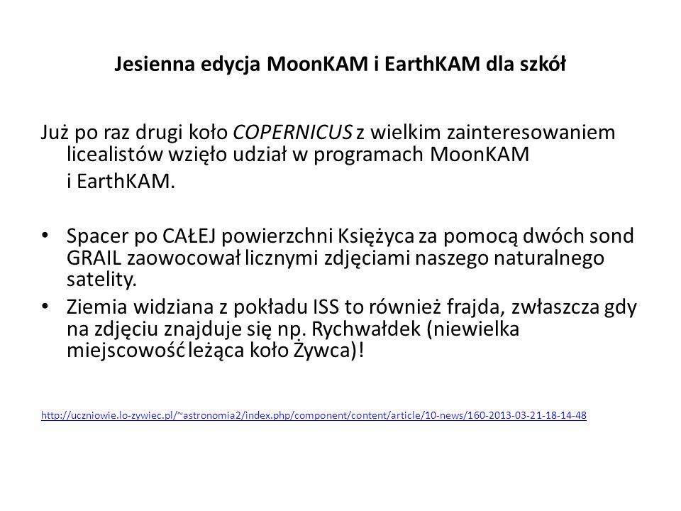 Jesienna edycja MoonKAM i EarthKAM dla szkół
