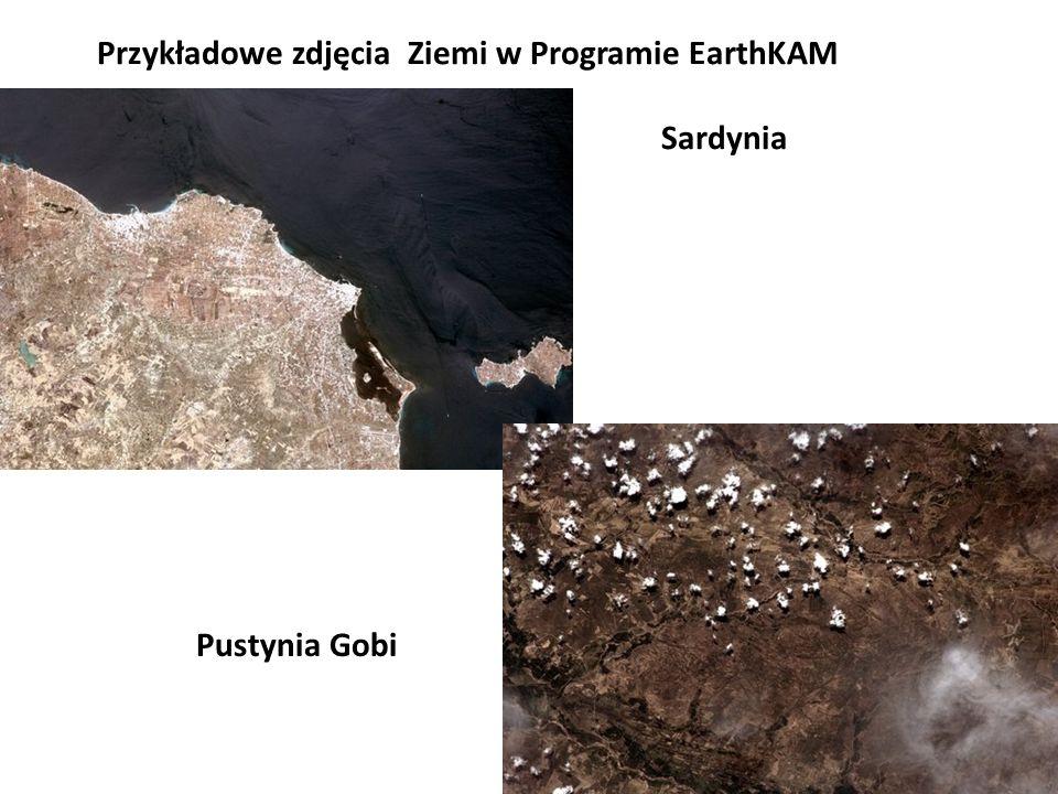 Przykładowe zdjęcia Ziemi w Programie EarthKAM Sardynia
