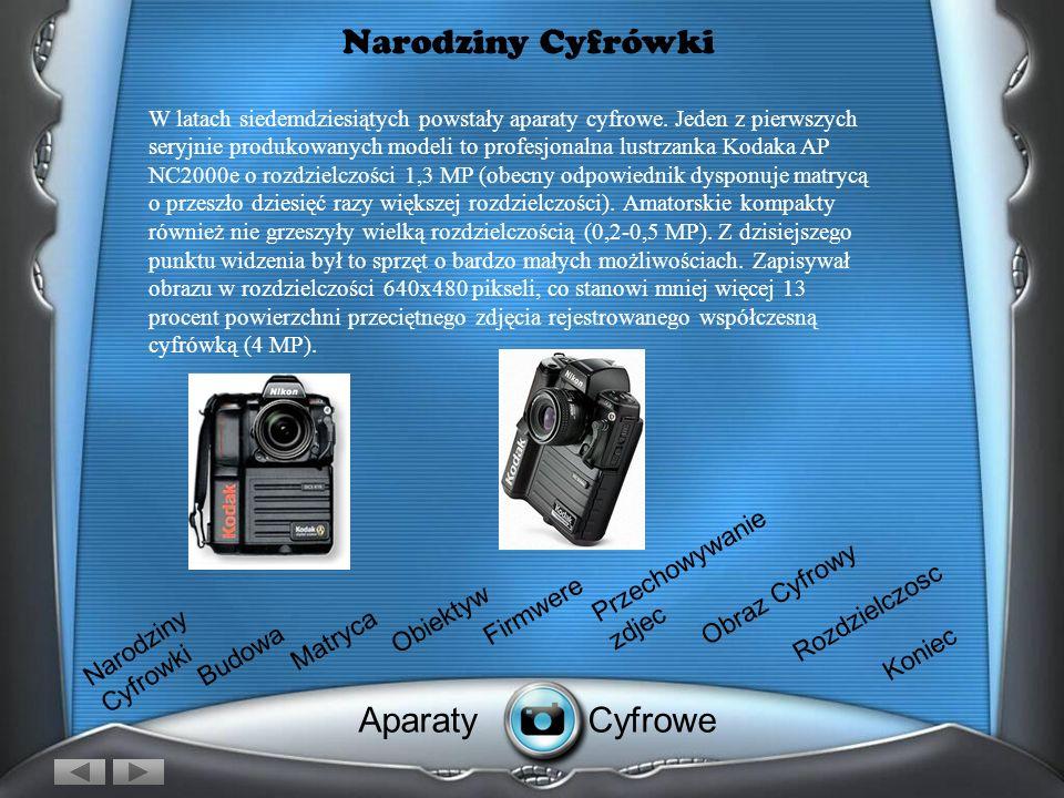 Narodziny Cyfrówki Aparaty Cyfrowe Przechowywanie zdjec Obraz Cyfrowy