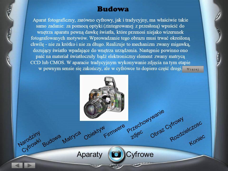 Budowa Aparaty Cyfrowe Przechowywanie zdjec Obraz Cyfrowy Firmwere