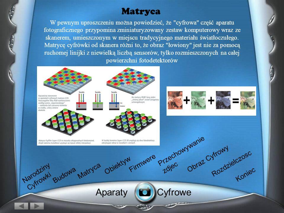 Matryca Aparaty Cyfrowe Przechowywanie zdjec Obraz Cyfrowy Firmwere