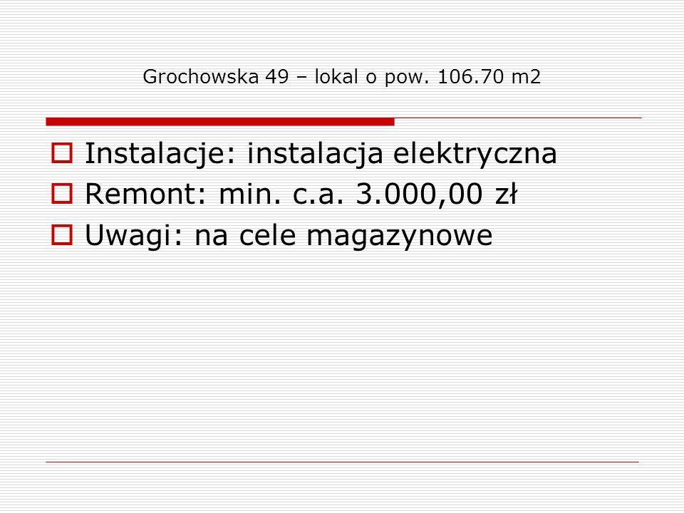 Grochowska 49 – lokal o pow. 106.70 m2