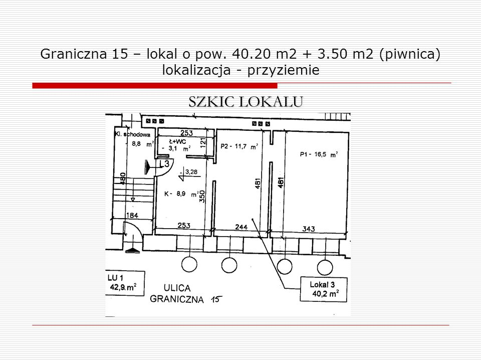 Graniczna 15 – lokal o pow. 40. 20 m2 + 3