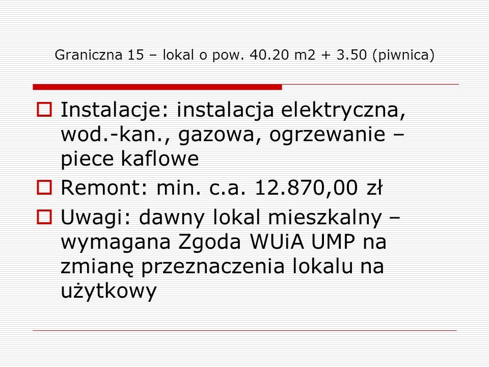 Graniczna 15 – lokal o pow. 40.20 m2 + 3.50 (piwnica)