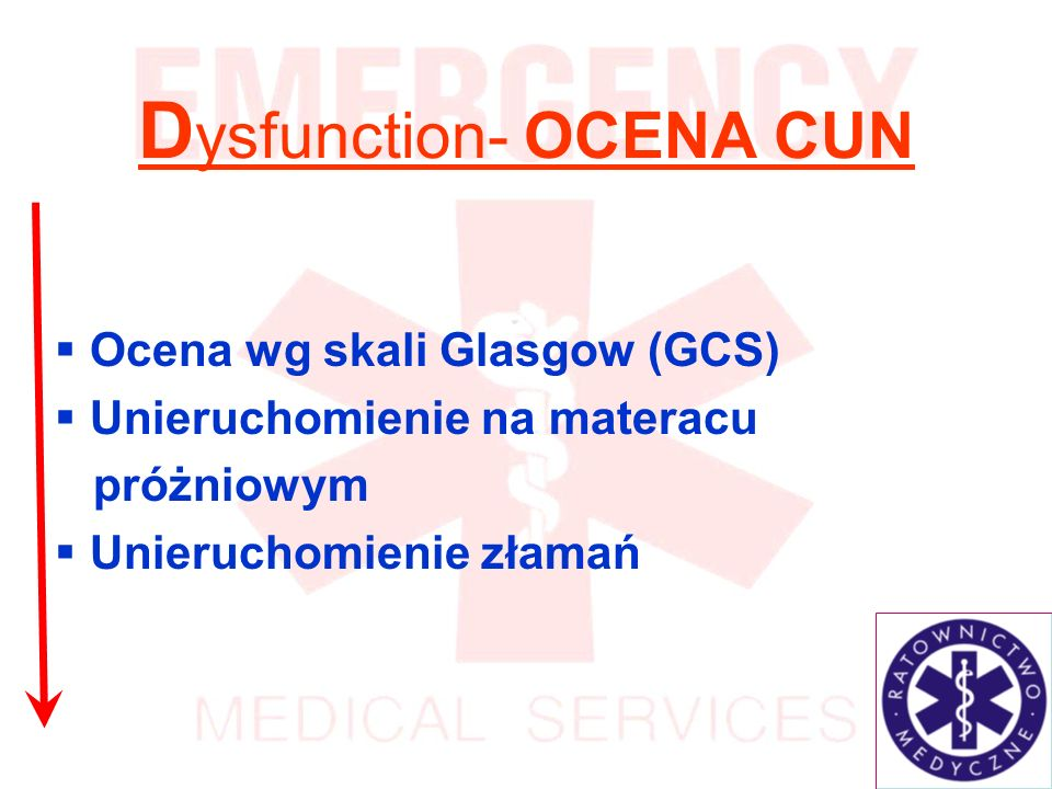 Dysfunction- OCENA CUN