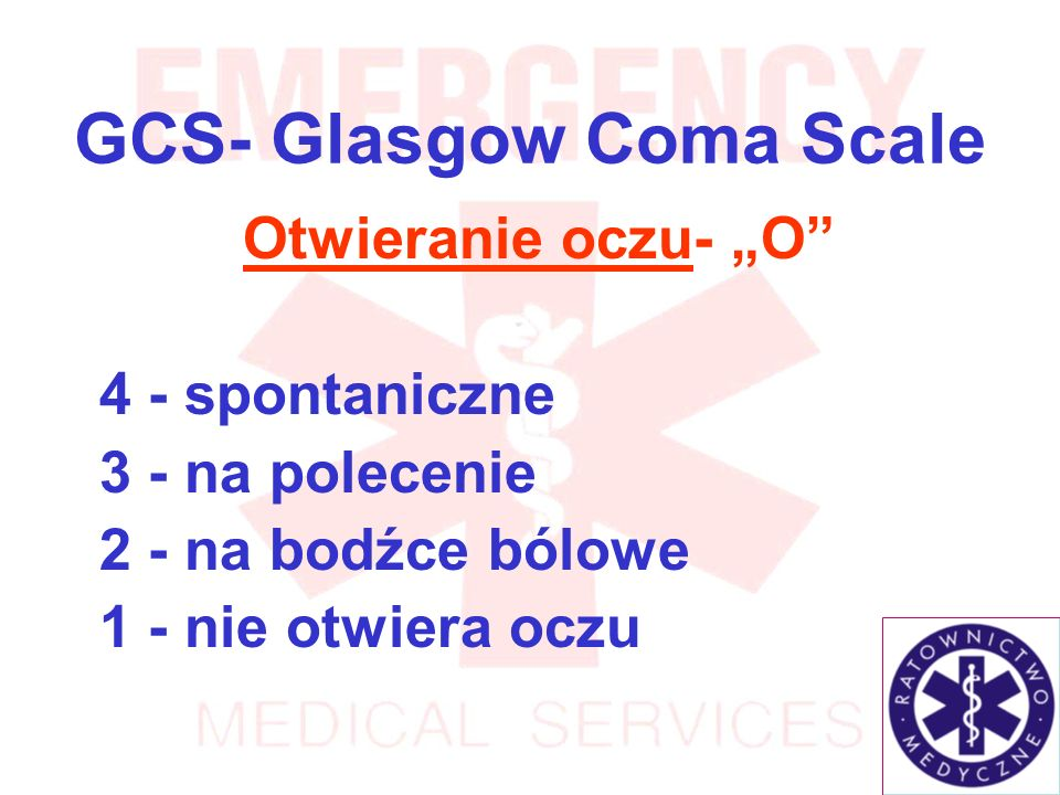 GCS- Glasgow Coma Scale