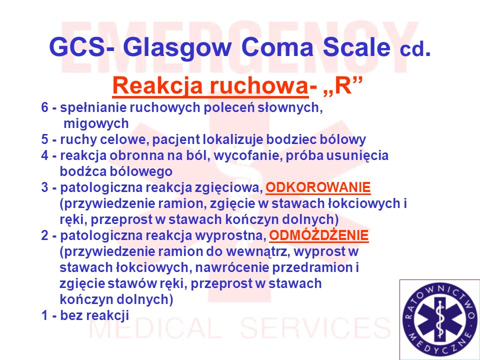 GCS- Glasgow Coma Scale cd.