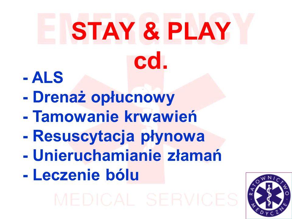 STAY & PLAY cd. - ALS - Drenaż opłucnowy - Tamowanie krwawień