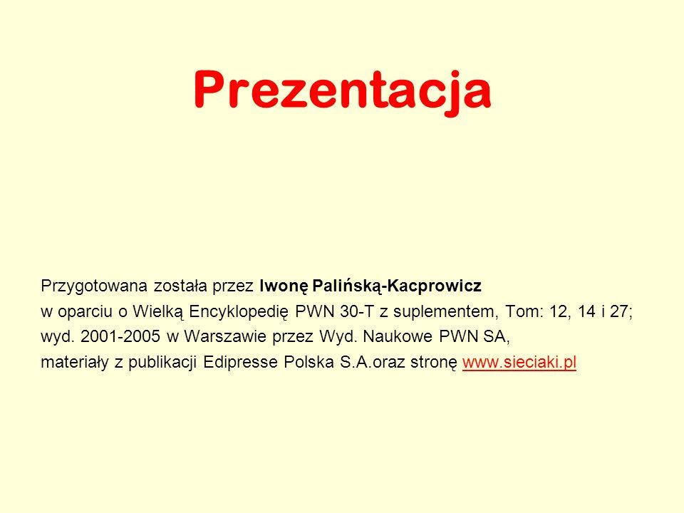 Prezentacja Przygotowana została przez Iwonę Palińską-Kacprowicz