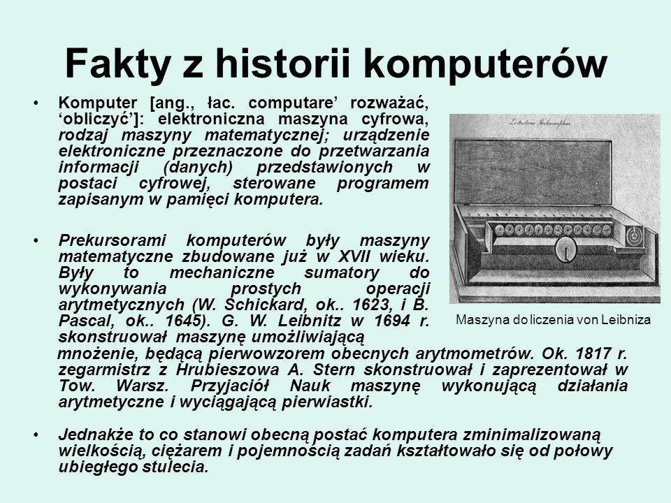 Fakty z historii komputerów