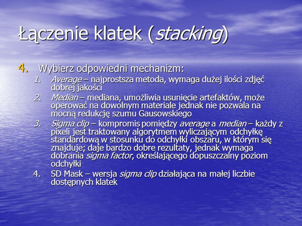Łączenie klatek (stacking)