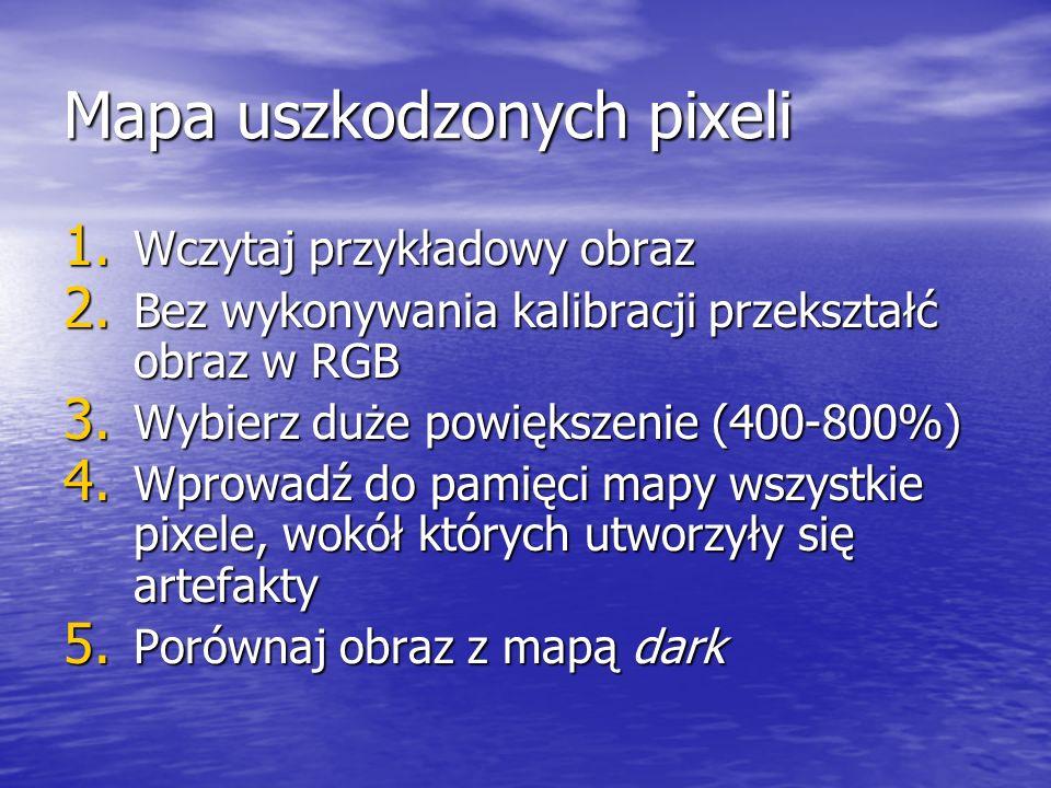 Mapa uszkodzonych pixeli