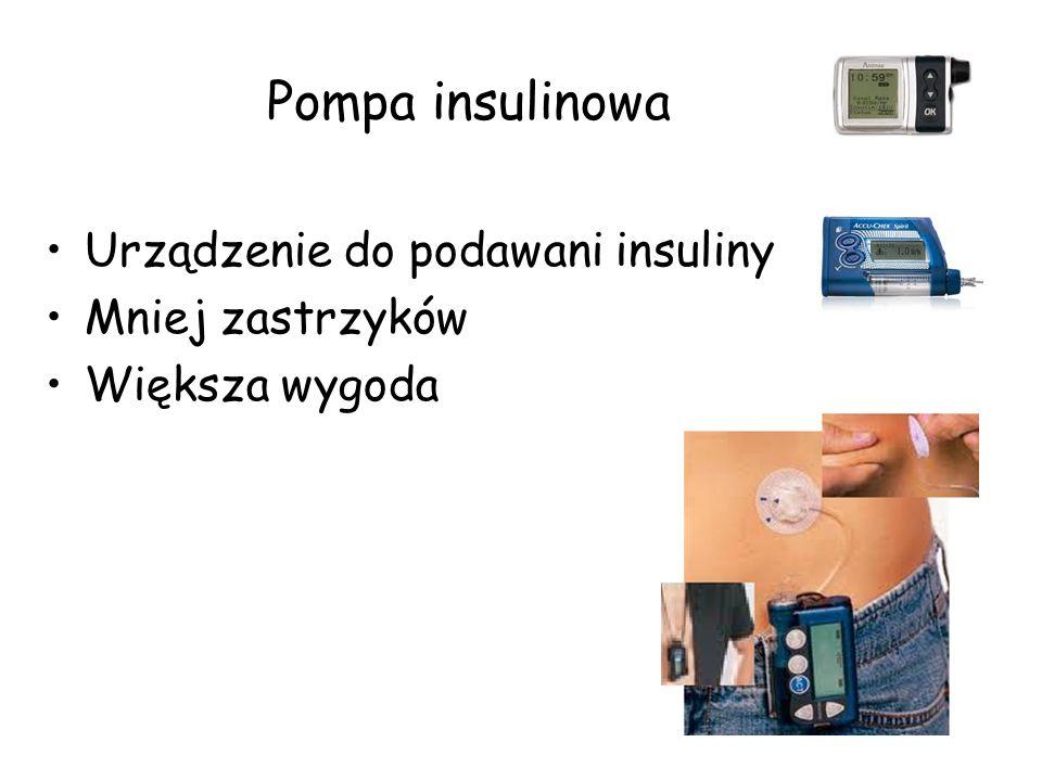 Pompa insulinowa Urządzenie do podawani insuliny Mniej zastrzyków