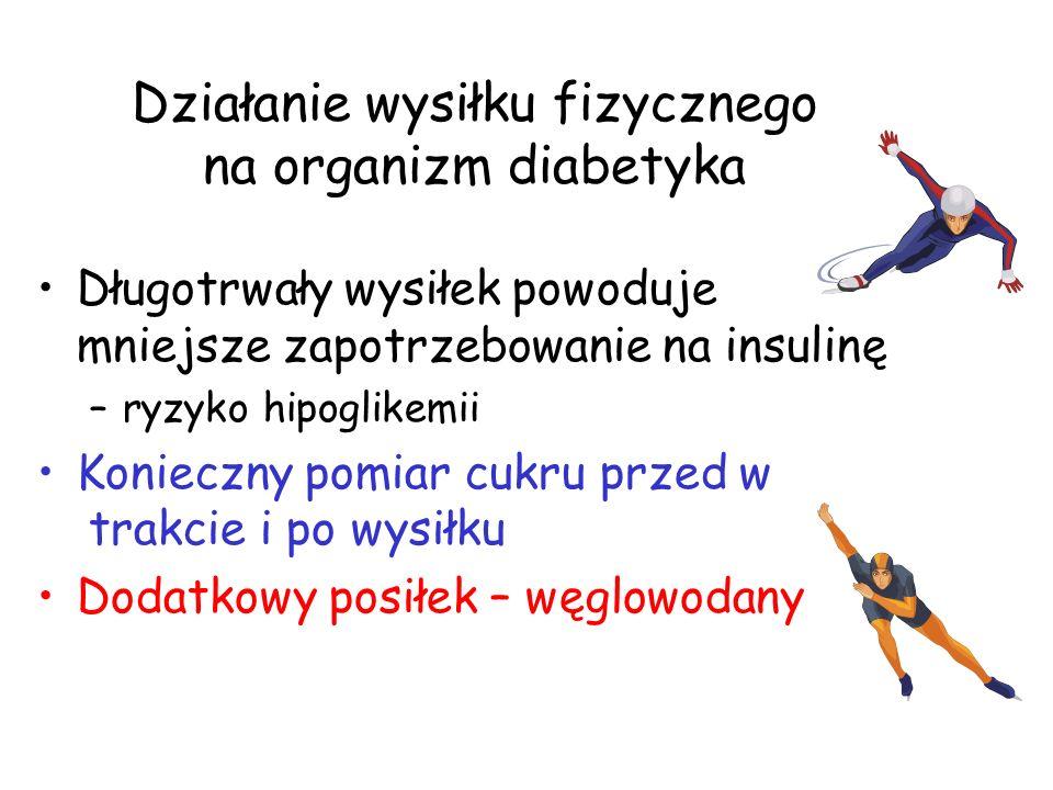 Działanie wysiłku fizycznego na organizm diabetyka