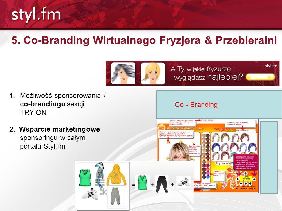 5. Co-Branding Wirtualnego Fryzjera & Przebieralni