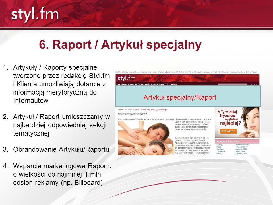 6. Raport / Artykuł specjalny