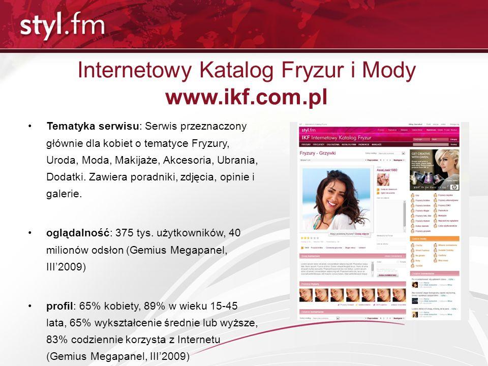 Internetowy Katalog Fryzur i Mody