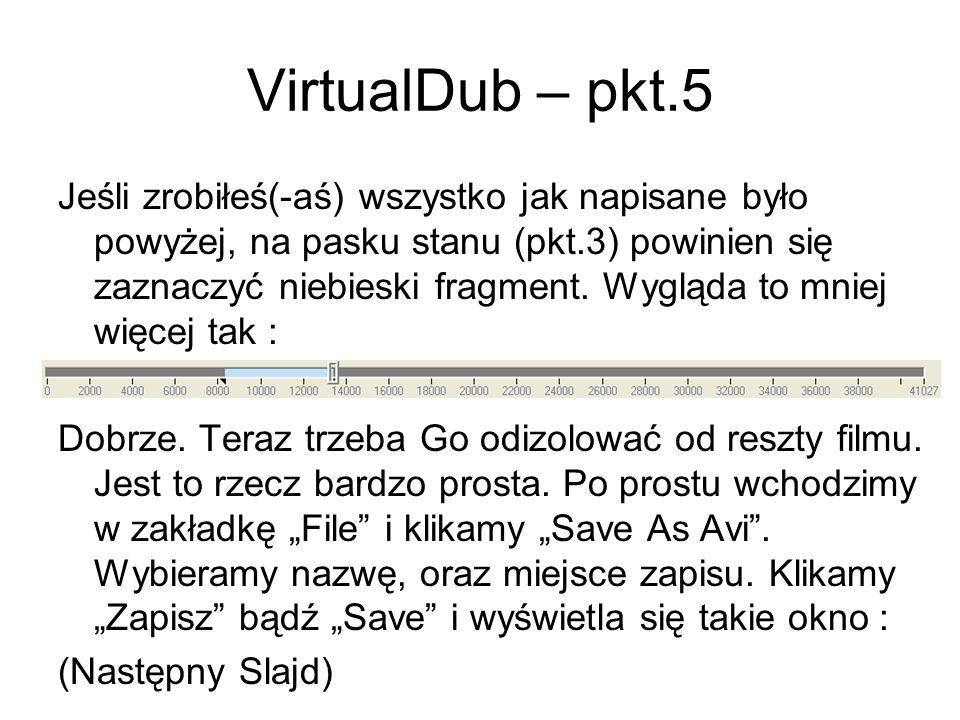 VirtualDub – pkt.5