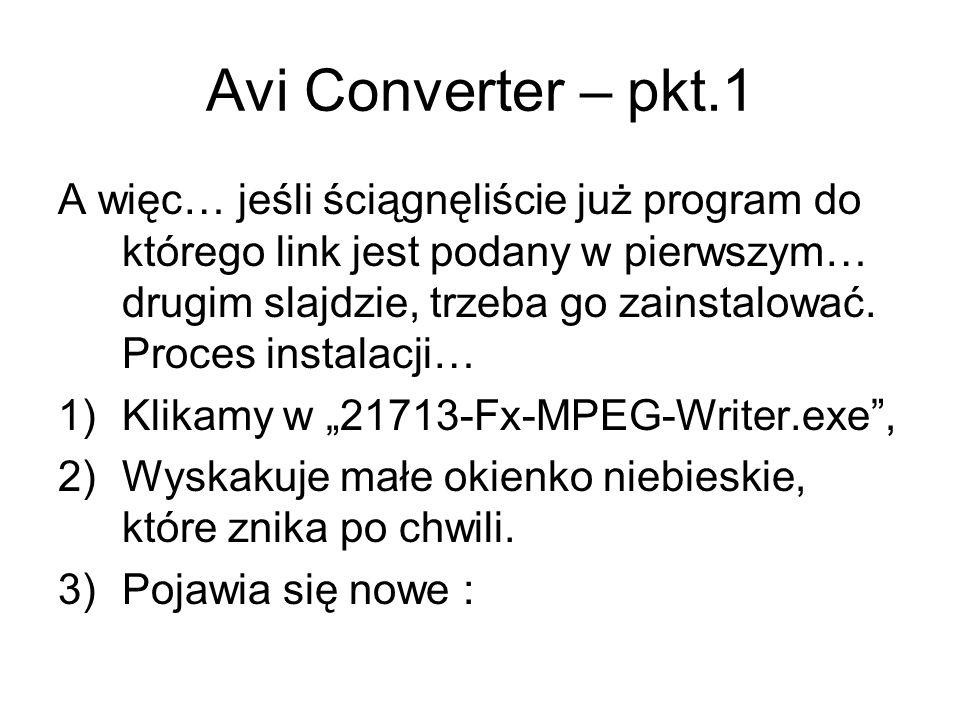 Avi Converter – pkt.1