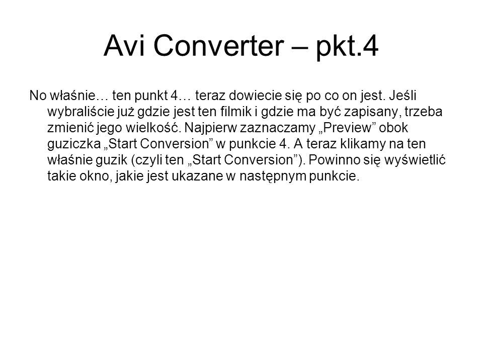 Avi Converter – pkt.4