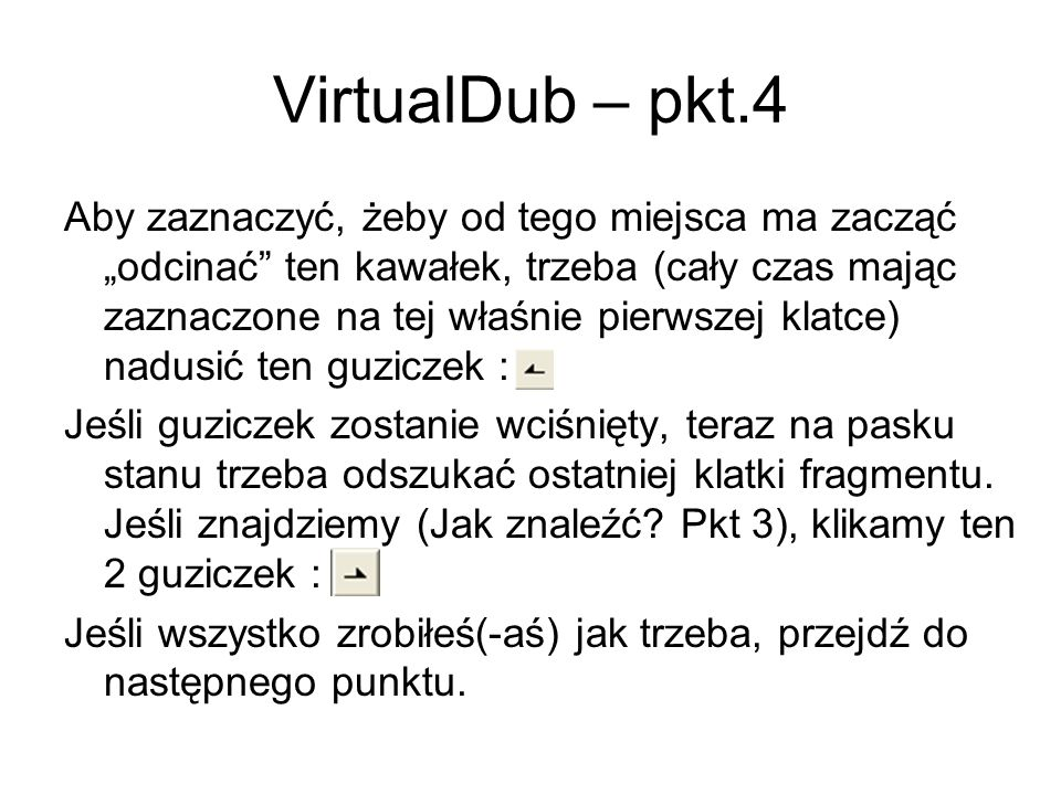 VirtualDub – pkt.4