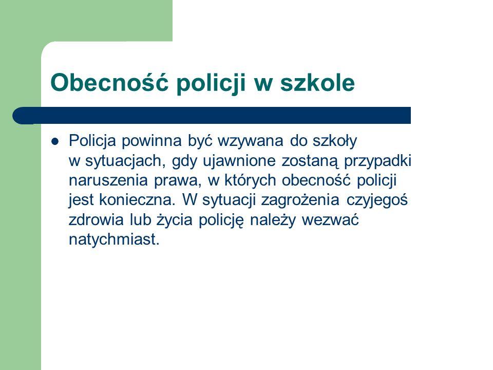 Obecność policji w szkole