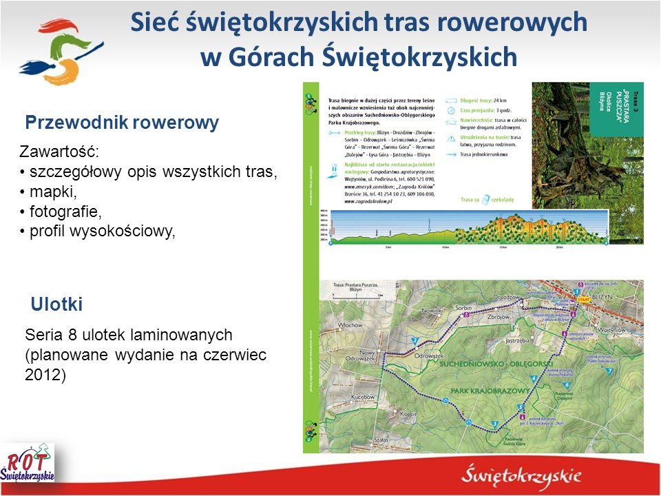 Sieć świętokrzyskich tras rowerowych w Górach Świętokrzyskich