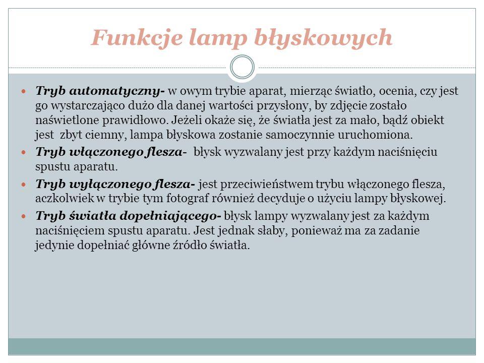 Funkcje lamp błyskowych