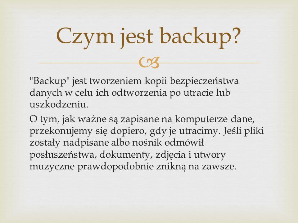 Czym jest backup
