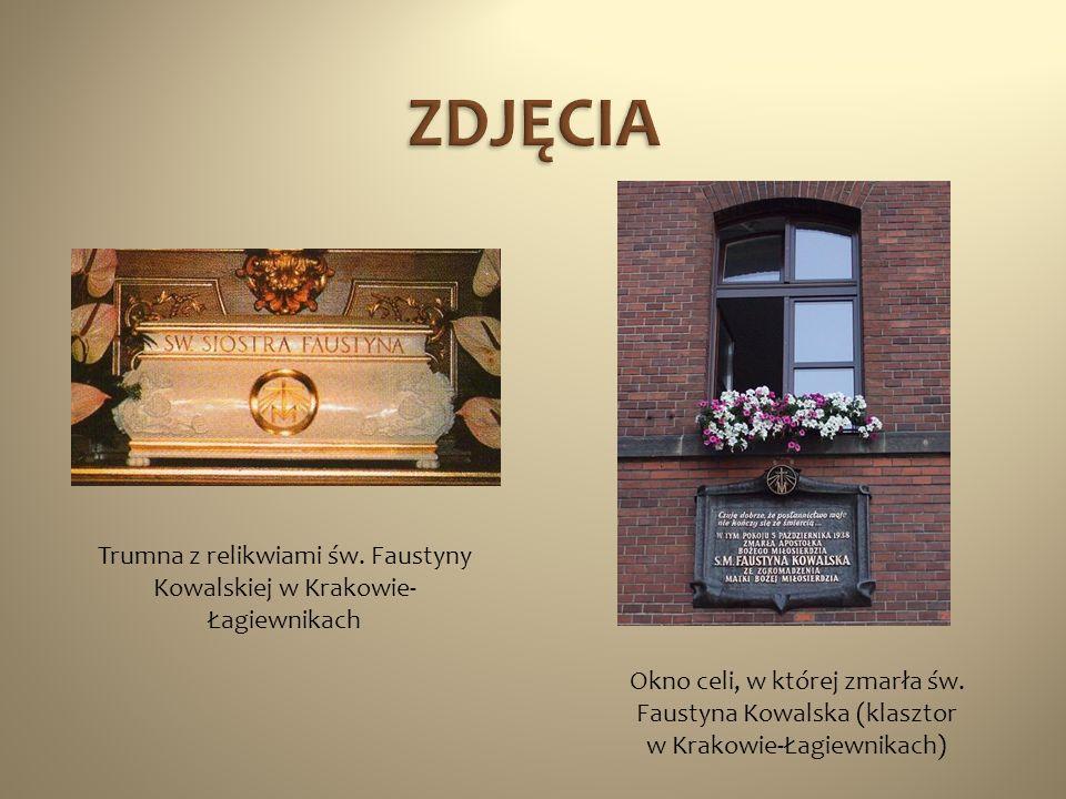 Trumna z relikwiami św. Faustyny Kowalskiej w Krakowie-Łagiewnikach