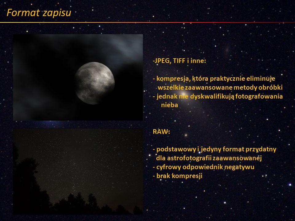 Format zapisu JPEG, TIFF i inne: